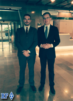 Thibaut de Chassey et Robert Winnicki, président de Ruch Narodowy et député.